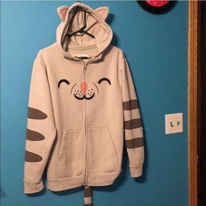 Sheldon's soft kitty hoodie full zip sweatshirt